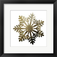 Glimmer Snowflakes 1 Framed Print