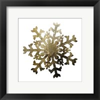 Glimmer Snowflakes 2 Framed Print