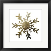 Glimmer Snowflakes 4 Framed Print