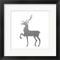 Silver Deer 2 Framed Print
