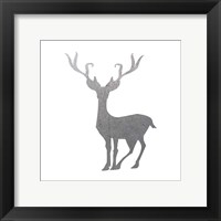 Silver Deer 4 Framed Print