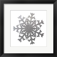Silver Snowflakes 2 Framed Print