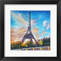 Framed Paris Single Canvas