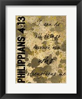 Framed Philippians Strength