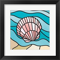 Framed Seashell Stained Glass