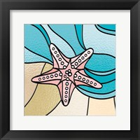 Starfish Stained Glass Framed Print
