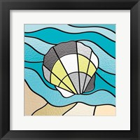 Smoke Seashell Glass Framed Print