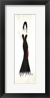 Long Black Dress Two Framed Print