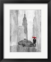 NY Rain Framed Print