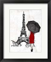 Inked Walk Away Mate Red Framed Print