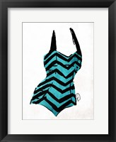 Vintage Swimsuit Four Framed Print