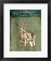 Framed Deer In The Field