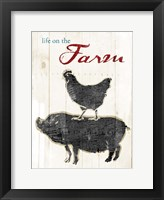 Life On The Farm Framed Print