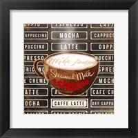 Caffe Latte Two Framed Print