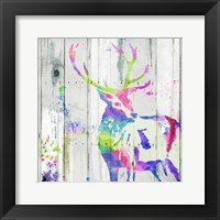 Deer Gaze Colorful Framed Print