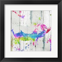 Framed Pig Colorful