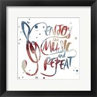 Enjoy the Music Framed Print