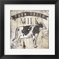 Farm Fresh Milk Framed Print