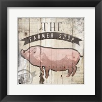 The Farmer Shop Framed Print
