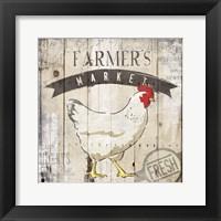 Farmers Market Framed Print