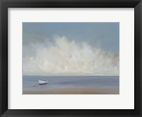 Framed White Boat
