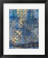 Ornate Azul A2 Framed Print