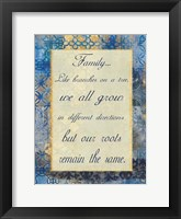 Family Roots Framed Print