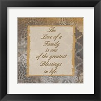 Family Blessings Framed Print