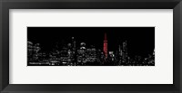 NY Red Pop Night Framed Print