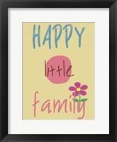 Happy Family Framed Print