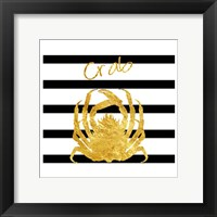 Golden Crab Framed Print