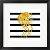 Golden Jelly Fish Framed Print