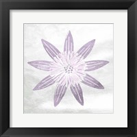 Soft Texture Flower Framed Print