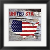America Framed Print
