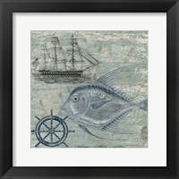 Deep Sea Blue Framed Print