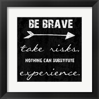 Bravery Framed Print
