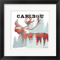 Plaid Caribou Framed Print