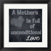 A Mothers Heart Framed Print