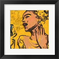 Lady Blues Framed Print
