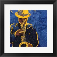 Sax Blues Framed Print