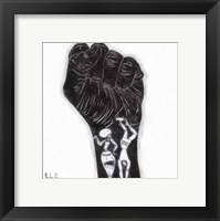 Framed Black Fist