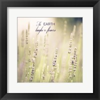 Lavender Fields Quote Framed Print