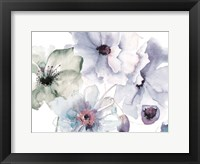 Flowering Blue Hues 2 Framed Print