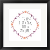 Floral Bad Day Framed Print