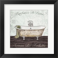 Mapped Bath Framed Print