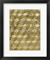 Framed Golden Cubism