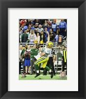Framed Aaron Rodgers game winning touchdown pass- December 3, 2015