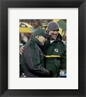 Framed Brett Favre & Bart Starr at Favre's number retirement ceremony at Lambeau Field- November 26, 2015