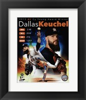 Framed Dallas Keuchel 2015 American League Cy Young Winner Portrait Plus