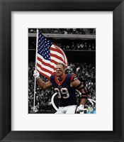 Framed J.J. Watt 2015 Spotlight Action